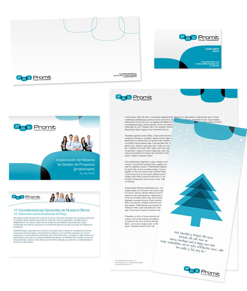 Identidad corporativa Promit Diseño Gráfico Eloy Ortega