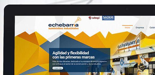 Echebarria Suministros Diseño web Eloy Ortega