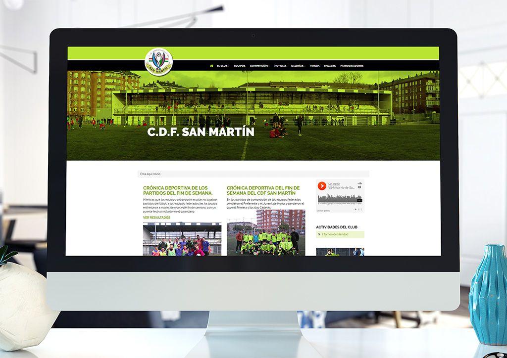San Martín - Diseño web Eloy Ortega