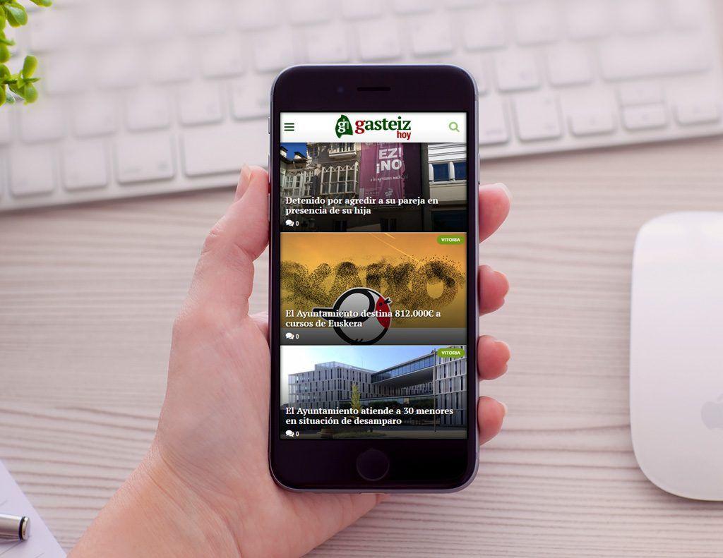 Gasteiz Hoy Diseño web Responsive