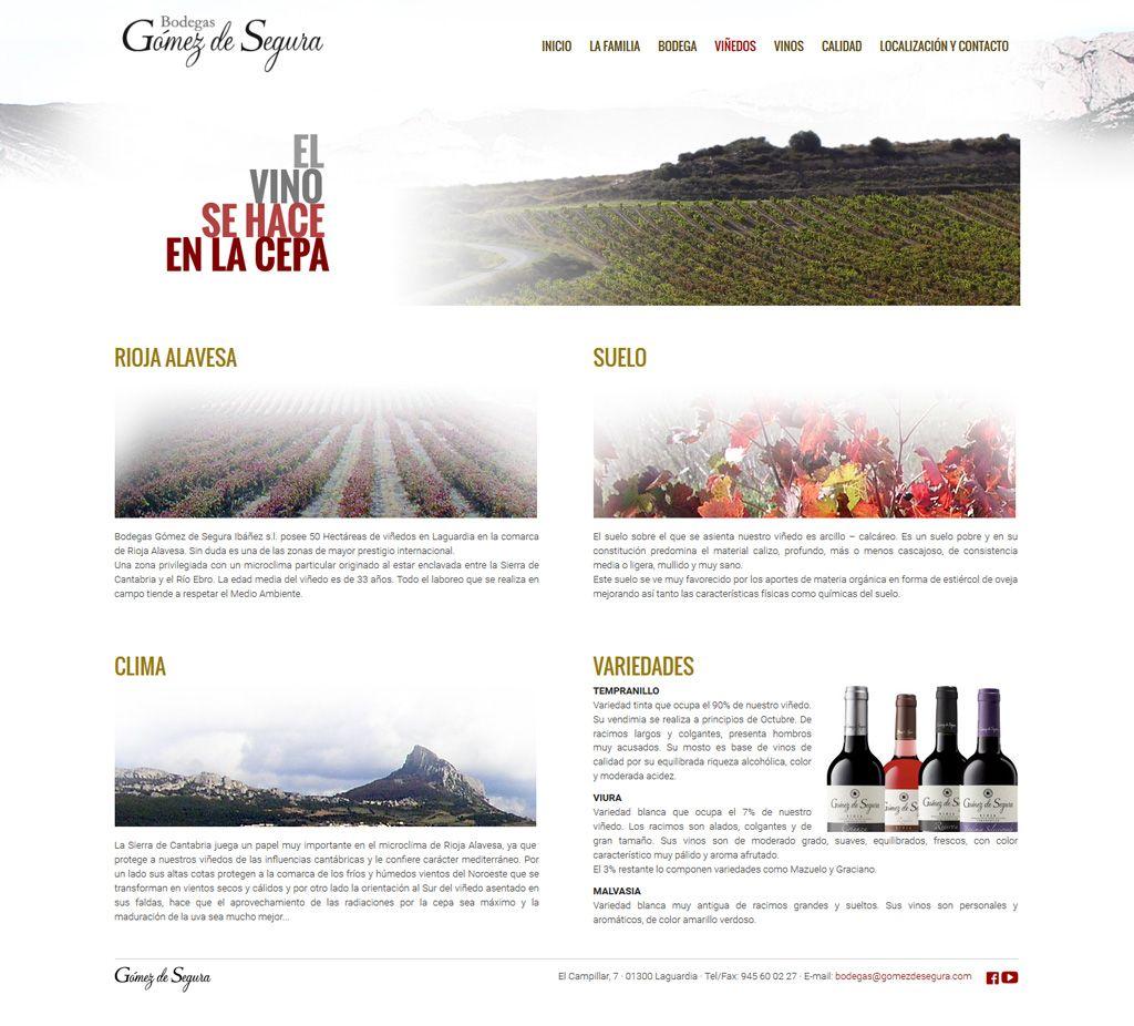 Gómez de Segura - Diseño web