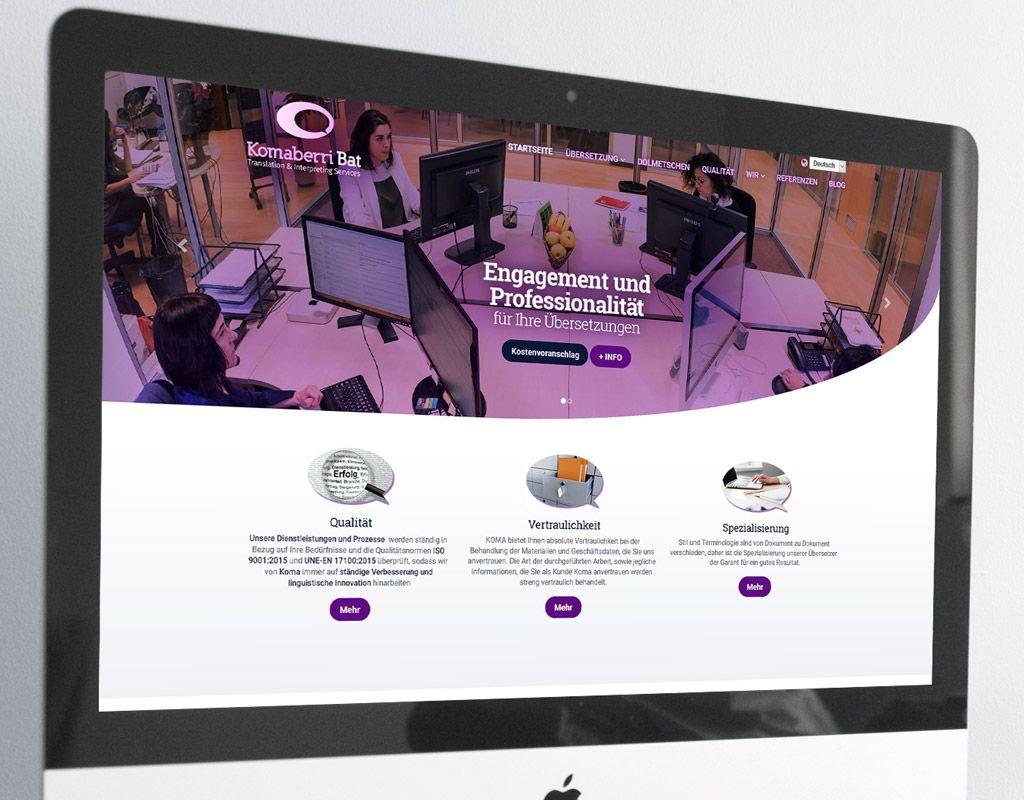 Komaberri Bat diseño web