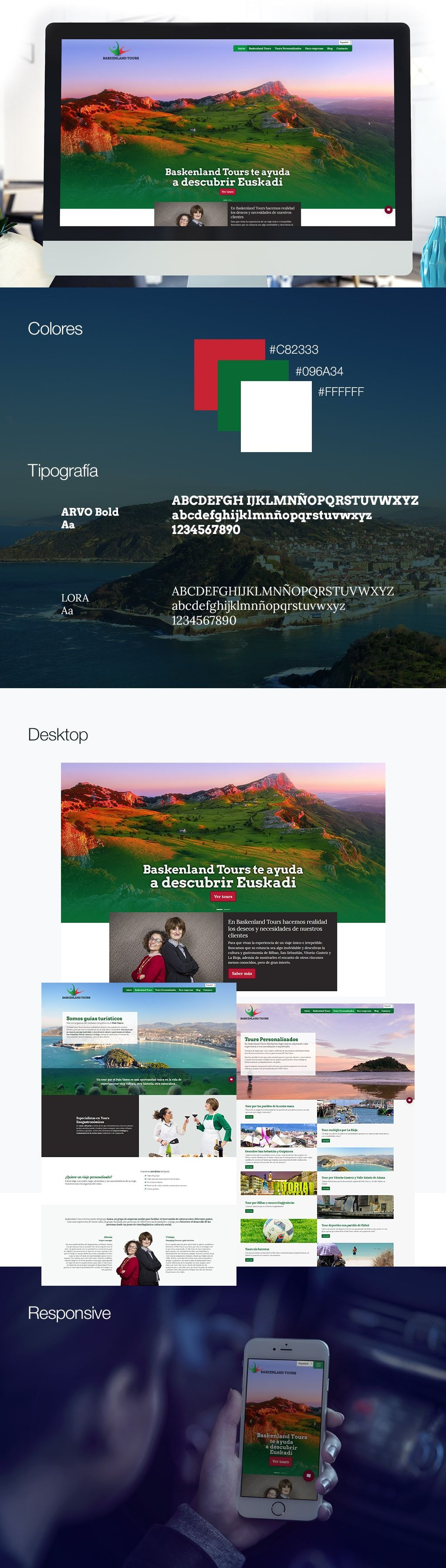 Baskenland Tours Diseño web